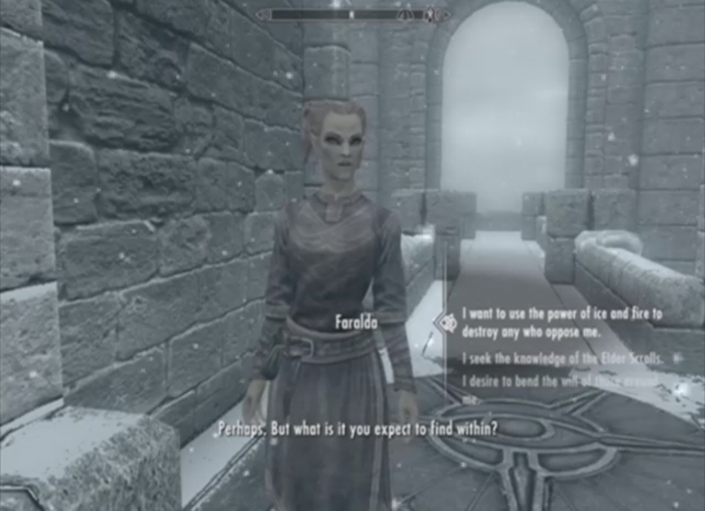 First Lessons - The College of Winterhold - The Elder