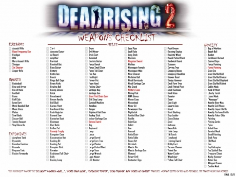 Dead Rising  Car Locations