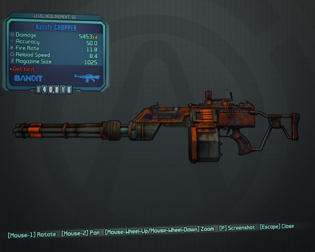 CHOPPER - Assault Rifles - Borderlands 2 Weapons / Equipment