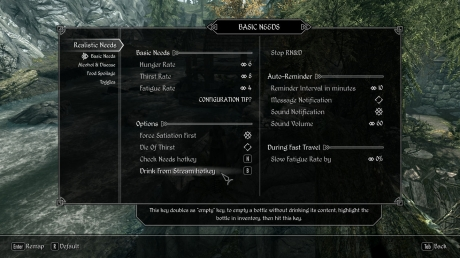 Realistic needs and diseases skyrim legendary patch