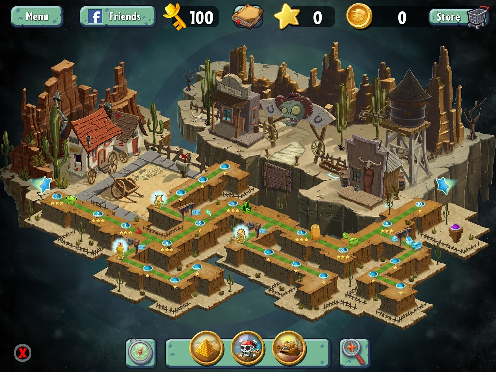 Wild West - Plants vs. Zombies 2: It\'s About Time Worlds, PvZ2 ...