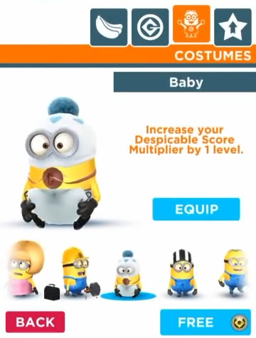Despicable Me Minion Rush - Baby  sc 1 st  Gamewise & Baby - Despicable Me: Minion Rush Costumes Minion Rush - Wiki Guide ...