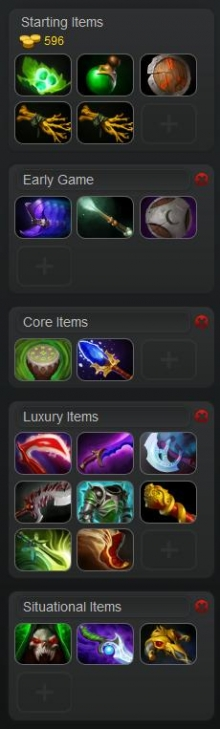 Dota yurnero item build