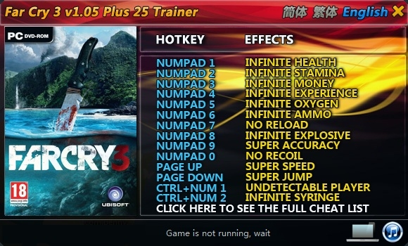 Trainer} far cry 3 + 3 by xpghax (updated) | xpg gaming community.