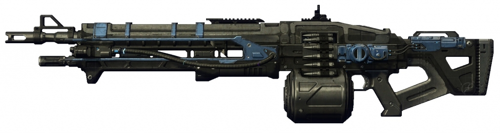 all are machine guns