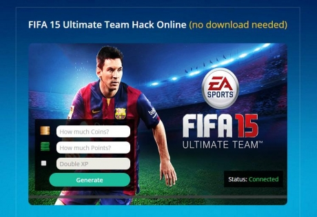 About FIFA 15 Ultimate Team. FIFA 15 is the 22 version of the known arrangement of football test systems by EA Sports. Directions how to handle the device. 1.Download FIFA 15 Ultimate Team Hack. 2.Run project. 3.Select your stage (iOS/Android) then snap Connect button.